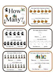 How Many?...Halloween Activities