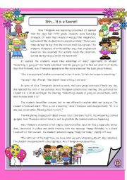 English Worksheets: Shh! It�s a Secret - Reading Comprehension