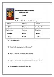 english teaching worksheets home alone. Black Bedroom Furniture Sets. Home Design Ideas