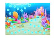 English Worksheet: Under the Sea gameboard
