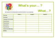 English worksheet: What´s...? What...?