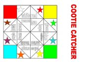 English Worksheets: COOTIE CATCHER