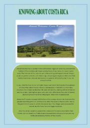 English Worksheet: Arenal Volcano