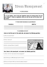 Stress Management - ESL worksheet by supriti.panigrahi