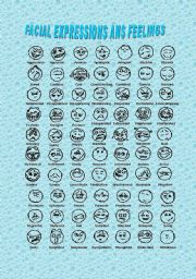 English Worksheets: facial expressions and feelings