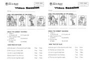 English Worksheet: Video session: Toy story