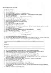 English Worksheets: On a Bridge questions