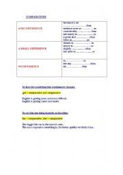 English Worksheets: compatatives