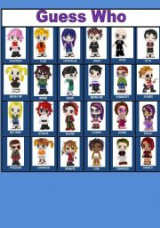 photo regarding Guess Who Cards Printable titled Wager who - good friend poke playing cards - ESL worksheet as a result of porcelaindoll