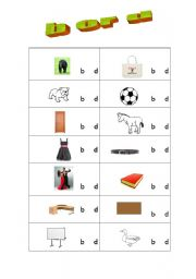English Worksheets: b or d