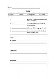 English Worksheets: Ways of LIfe