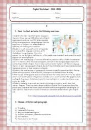 English Worksheet: Present Simple and Present Continuous Worksheet