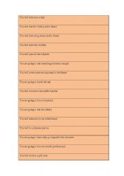 English Worksheets: Fortune Telling