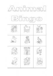 English Worksheets: Animal bingo