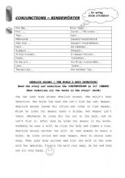 Conjunctions - for story writing - ESL worksheet by babsfr1