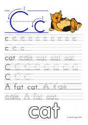 Letter Formation Worksheets and reuploaded Learning Letters Cc and Dd: 8 worksheets