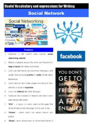 English Worksheets: SOCIAL NETWORK useful vocabulary and Expressions