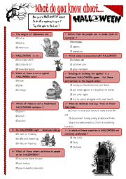 English Worksheets: ARE YOU A HALLOWEEN EXPERT ?