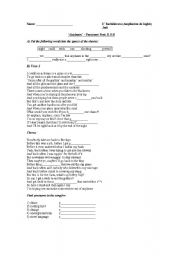 English Worksheets: �Airplanes� Paramore Feat. B.O.B
