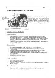 English Worksheets: Cartoon/ picture analysis advanced + vocabulary/useful phrases