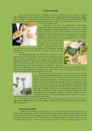 English Worksheet: an Irish wedding
