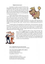 English Worksheets: why did the little dog die