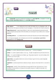 English Worksheets: Writing: A paragraph