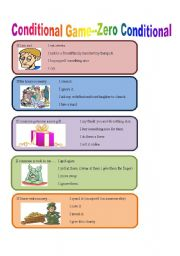 English Worksheet: Conditionals Guessing Game--Zero Type