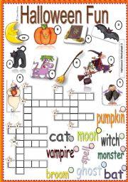 English Worksheets: Halloween Fun