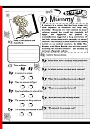 English Worksheets: RC Series Level 1_Scary Edition_01 Mummy (Fully Editable + Answer Key)