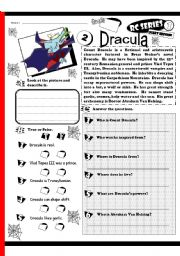 English Worksheets: RC Series Level 1_Scary Edition_02 Dracula (Fully Editable + Answer Key)