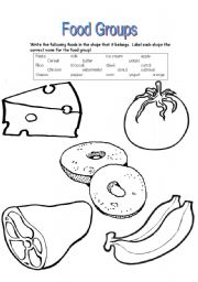 Worksheets Food Groups Worksheets english teaching worksheets food groups sort