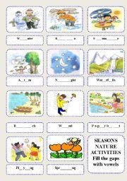 English teaching worksheets: Weather vocabulary