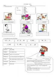 English Worksheet: Happy Street 2 Unit 6