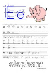 English Worksheet: Letter Formation Worksheets and reuploaded Learning Letters Ee and Ff: 8 worksheets