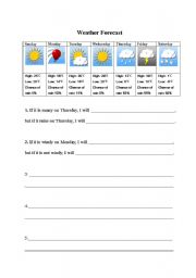 weather forecast with first conditionals esl worksheet by yume05. Black Bedroom Furniture Sets. Home Design Ideas