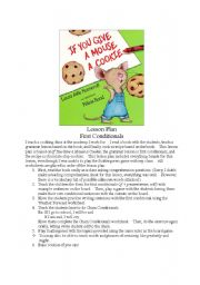 If You Give a Mouse a Cookie First Conditional Lesson Plan w/ all WS
