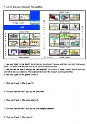 English Worksheet: City map