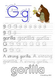 English Worksheets: Worksheets and reuploaded Learning Letters Gg and Hh: 8 worksheets