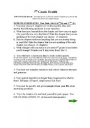 English Worksheets: END OF YEAR SPEECH