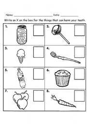 English Worksheet: let �s protect our teeth