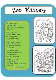 English Worksheet: Poem Comprehension