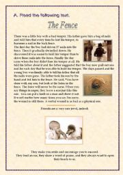 English Worksheets: The Fence