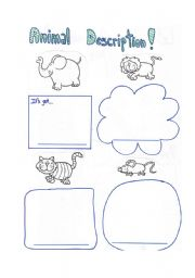 English Worksheets: Describing animals 2