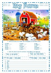 English Worksheet: MY FARM ~ 2 pages ~