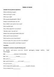 English Worksheets: when in Rome movie worksheet