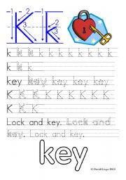 English Worksheets: Worksheets and reuploaded Learning Letters Kk and Ll: 8 worksheets