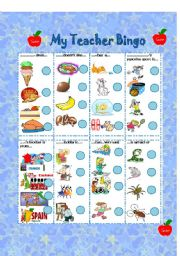 English Worksheet: Bingo