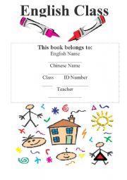 English Worksheet: Portfolio/Workbook Cover 2