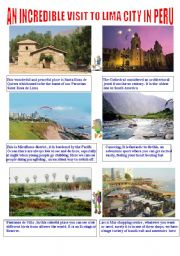 English Worksheets: a visit to Lima
